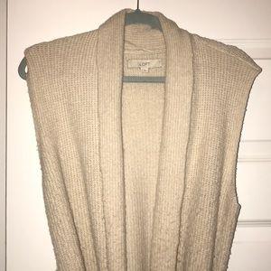 Loft wrap sweater vest Small EUC